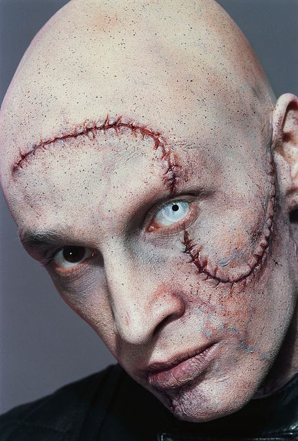 Baseball head. Special FX makeup by Emmy nominated Blanche Macdonald grad/faculty member Leanne Podavin.
