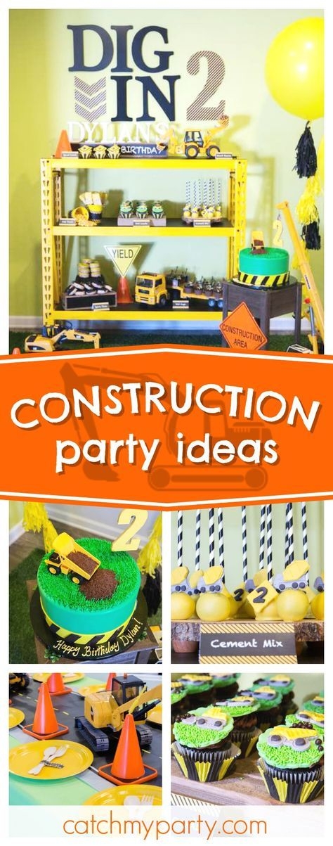 Cjeck out this awesome Construction birthday party! The birthday cake is so cool!! See more party ideas and share yours at CatchMyParty.com #construction #boybirthday