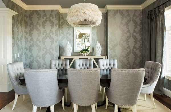 25 Elegant And Exquisite Gray Dining Room Ideas: Best 25+ Dining Room Wallpaper Ideas On Pinterest