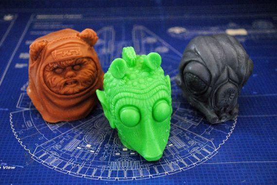 Handmade Star Wars Character set  Greedo Wicket by NerdySoap