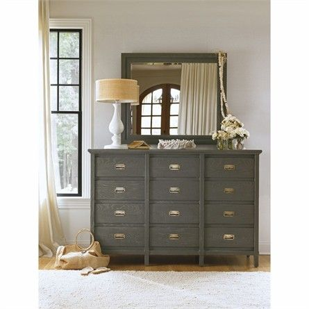 Complete your cottage inspired bedroom decor with the Haven's Harbor Dresser from Stanley Furniture's Coastal Living Resort Collection. This distressed dresser features 12 spacious drawers