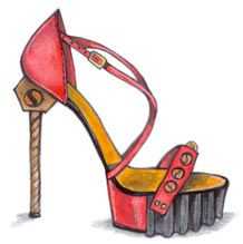 how to draw fashion illustration shoes | Shoe Design (3 Days)