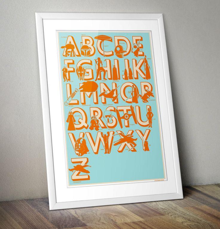 Star Wars, Retro, Print, Offset, Alphabet, Nursery Print, Star Wars Print by thedesignersnursery on Etsy https://www.etsy.com/listing/78146948/star-wars-retro-print-offset-alphabet