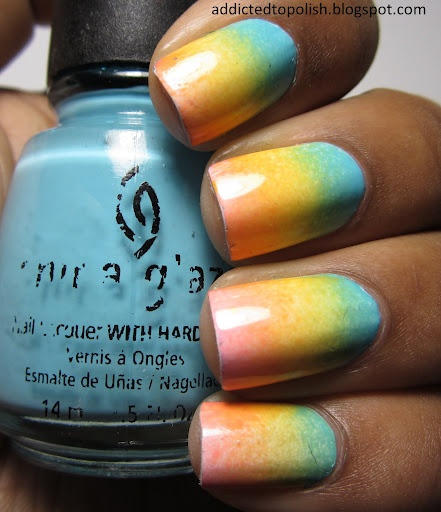 One of the nicest gradient manis I've seen.