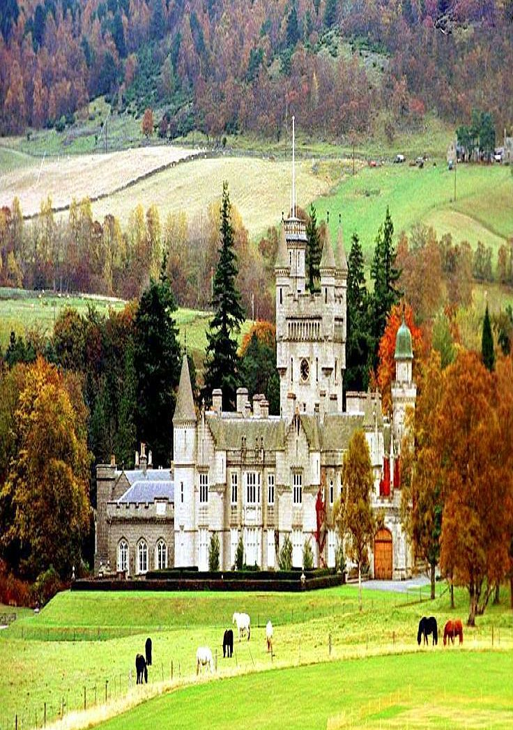 Balmoral Castle - Queen Elisabeth's summer residence at Aberdeenshire, Scotland