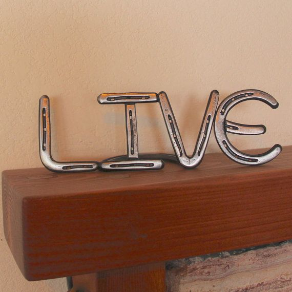 Metal LIVE Sign country western decor from by BlacksmithCreations, $119.99