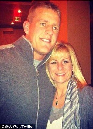 Mother of battered NFL J.J. Watt urges son to get a NOSE JOB after ...