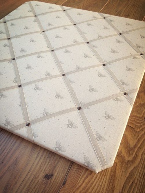 Just Bees Dove memo board by Clarabelle Interiors.