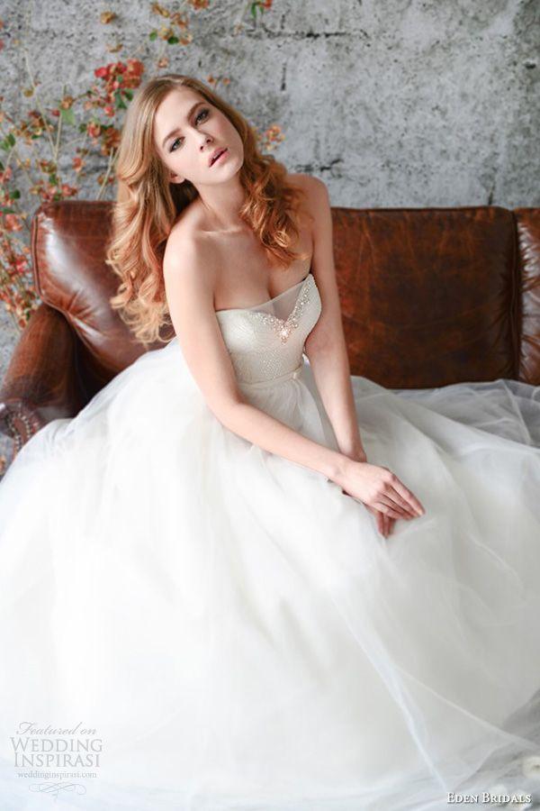 eden bridals wedding dresses spring 2014 gold label gl037 strapless ball gown