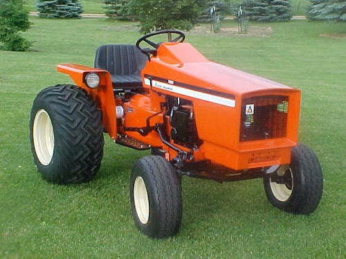 Allis chalmers lawn mower tractors pinterest gardens for Lawn tractor motors for sale