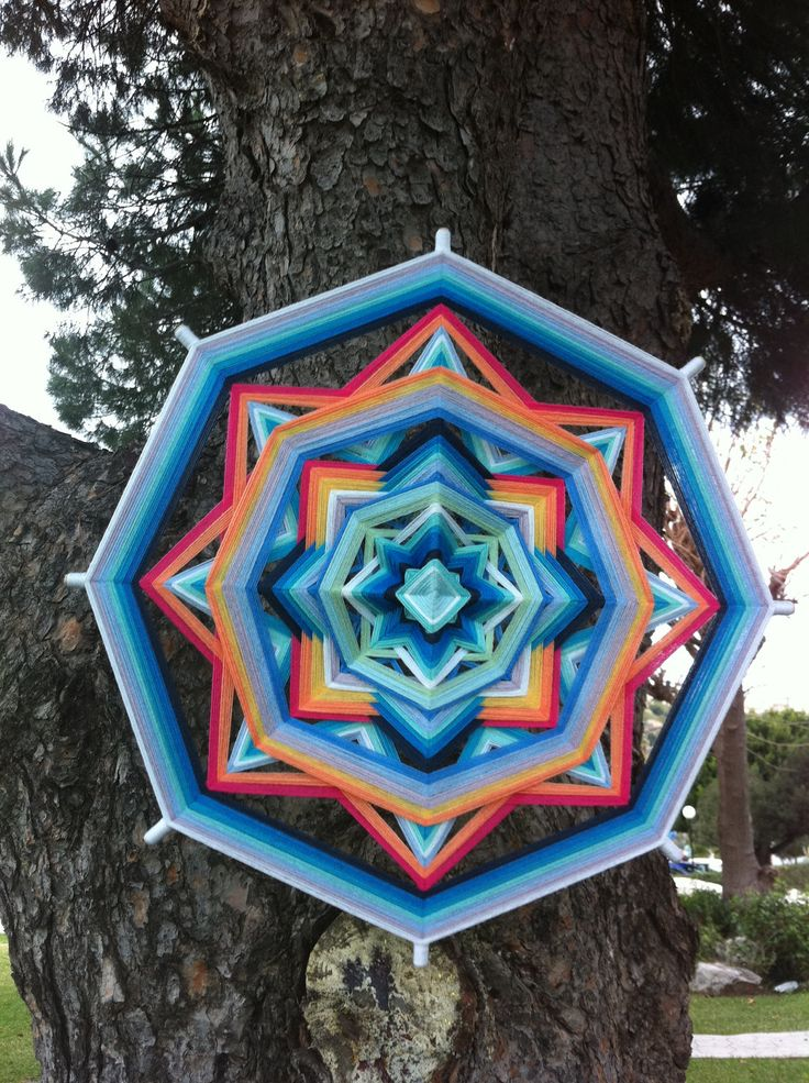 Tender feelings Yarn Mandala / Ojo de Dios by RusaLena by RusaLena, $70.00