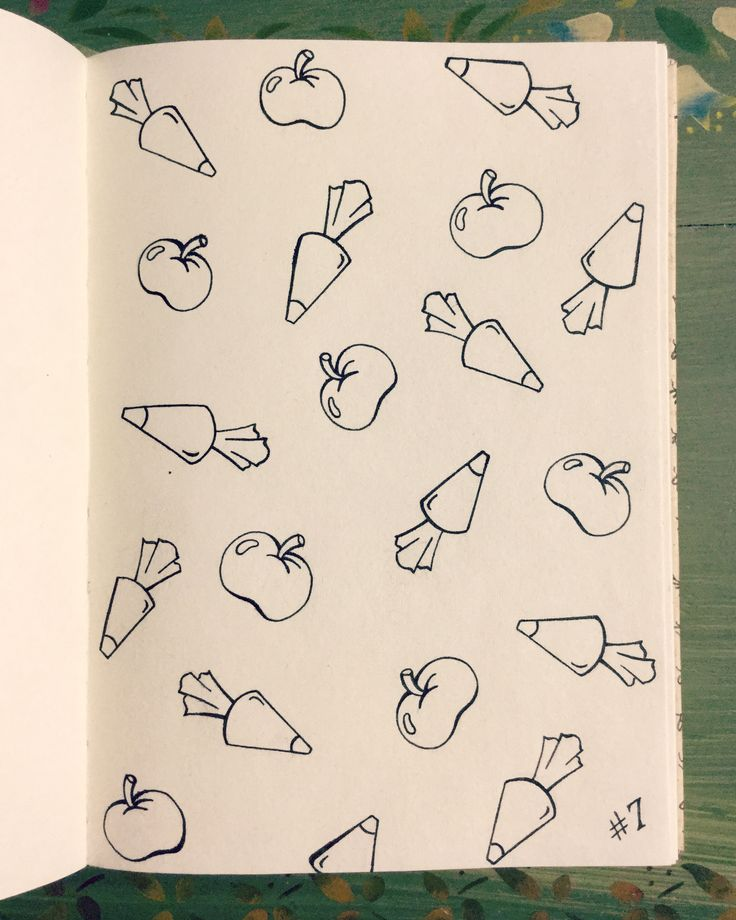 #inktober Day 7 - Piping Bags and Apples Design