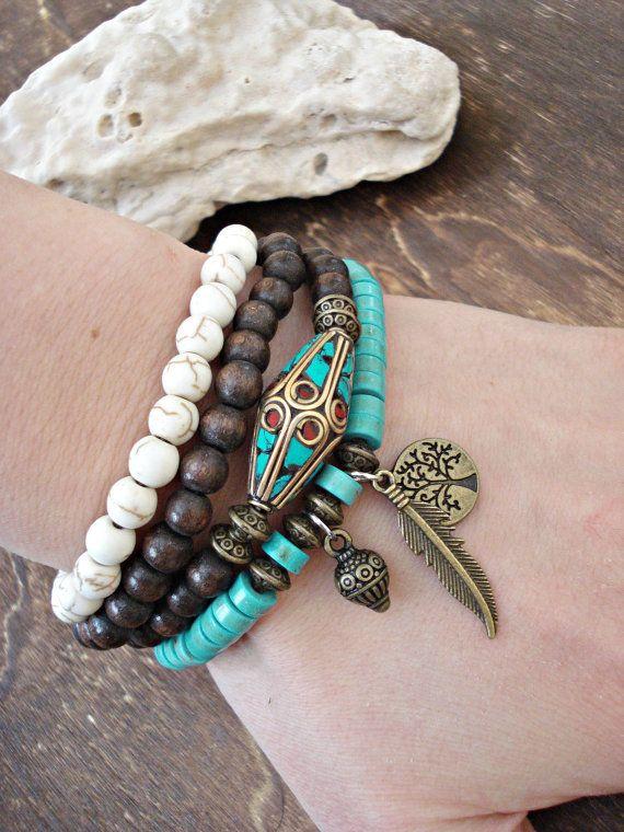 Yoga Bracelet  Yoga Jewelry  Tibetan Jewelry  by HandcraftedYoga, $44.00