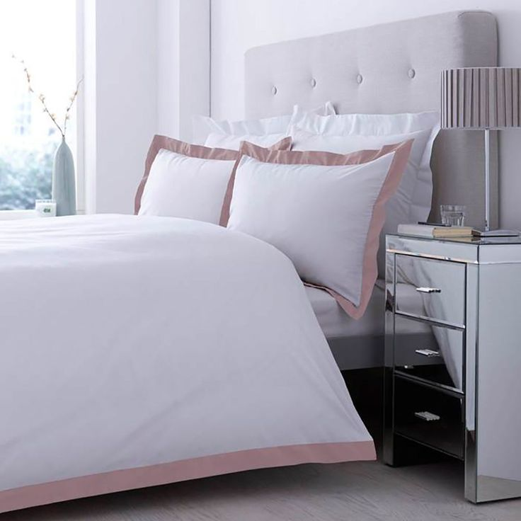 Chartwell Lexington Dusky Pink Double Bed Cover Set | Departments | DIY at B&Q