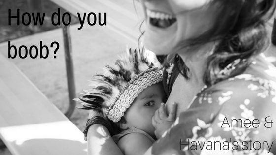 #howdoyouboob  Single mum Amee with her babe Havana