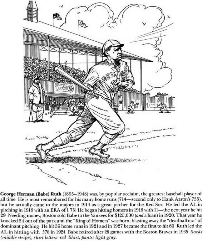 lou gehrig coloring pages - photo#7
