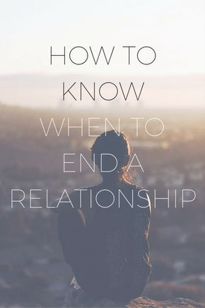 do all relationships end
