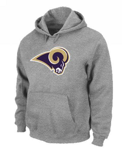 St.Louis Rams Logo Pullover Hoodie Grey