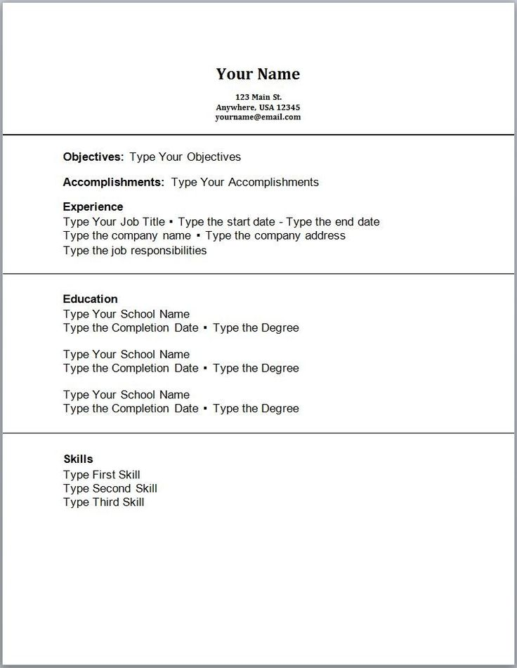 Kinds Of Resume Format » 25+ Best Ideas About Sample Resume Format