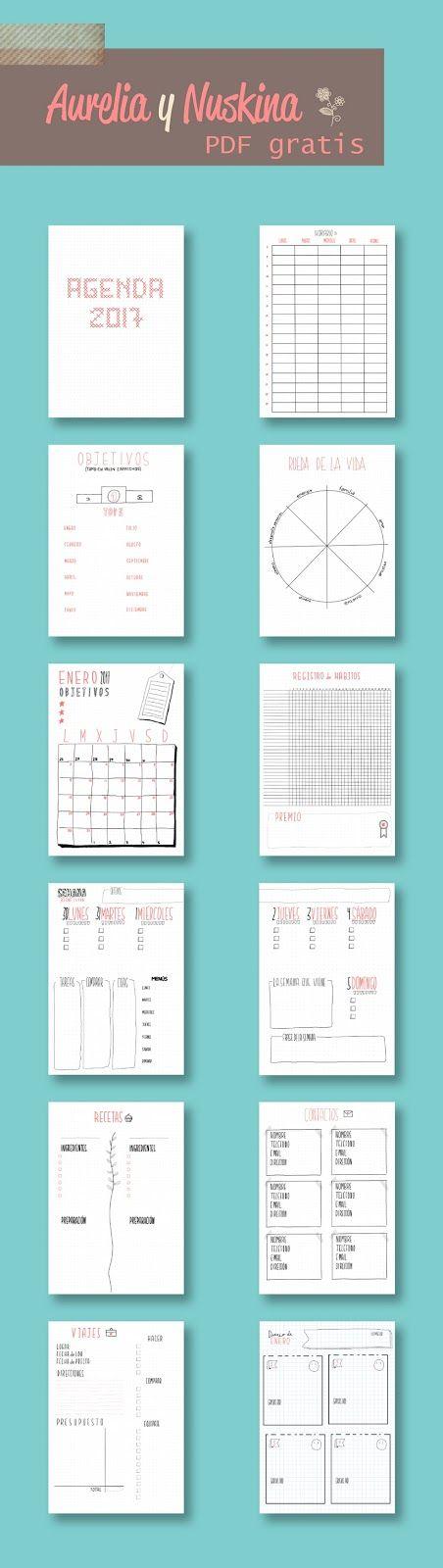 agenda 2017 para imprimir gratis y mas imprimibles gratis