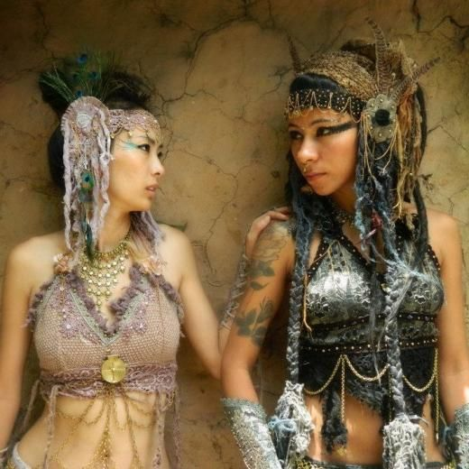 Jungle Gypsy Fashion - http://www.yourfantasycostume.com/costumes/jungle-gypsy-clothing-tribal-amazing-hand-made-fairy-wear