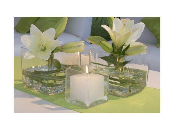 Arreglos de flores para bodas de noche pequeños