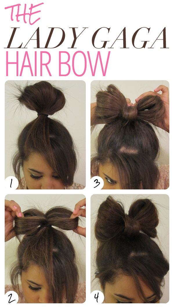 Bow bun... My hair is too long for this :/