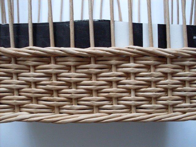 Tutorial - 4 strand braid - different technique - Moje pletení z papíru - Fotoalbum - NÁVOD - VZORY PLETENÍ - NÁVOD - NA OBRÁCENÝ OPLETEK 4