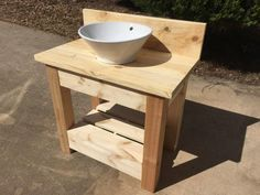 Wholesteading.com Farmhouse style vanity with vessel sink DIY