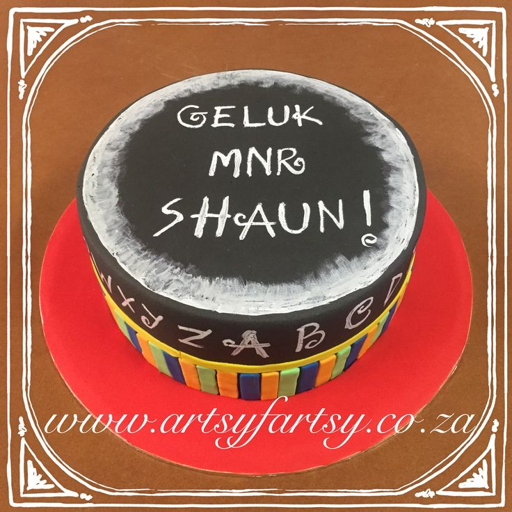 Chalk Board Teacher's Cake #chalkboardteacherscake