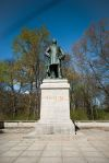 Statue of Prussian Soldier Albrecht von Roon in #Großer #Tiergarten in #Berlin, #Germany