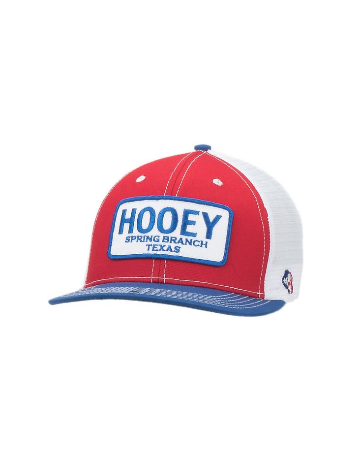 hooey red white and blue with patch logo mesh back cap cavender s cowboy hats caps