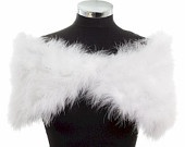 HOLLYWOOD NOSTALGIC GLAMOUR - Soft Ivory Marabou Feather Stole Wrap Shrug Cape- Plus sizes available. $150.00, via Etsy.