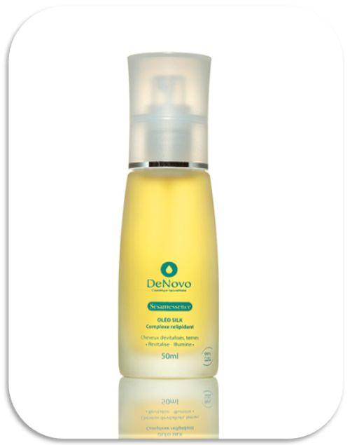 Complexe relipidant  De l'huile de sésame revitalisante + 25% d'agents relipidants   Texture soyeuse, revitalise et illumine les cheveux ternes.