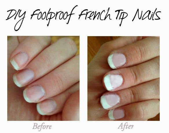 Eight Dollar Store Beauty Hacks Use The Dollar Tree Garage Sale Price Stickers As French Tip Nail Stencils French Nails French Tip Manicure French Tip Nails