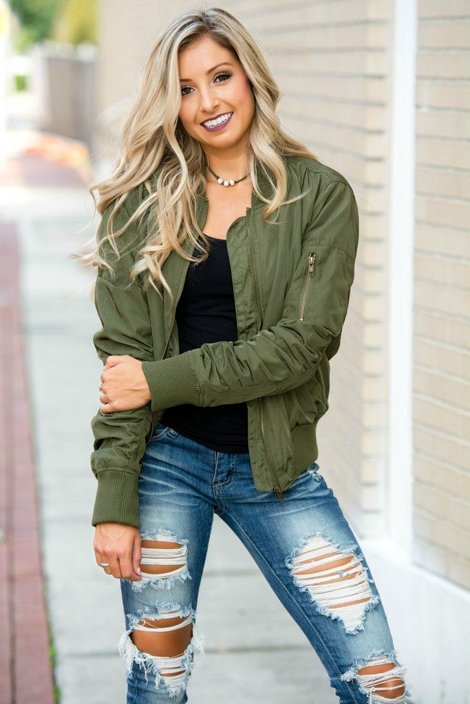 Olive Green Bomber Jacket Shop Simply Me Boutique Shop SMB – Simply Me Boutique