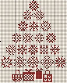 Snowflake tree - I think this might be nice in white stitching one red.