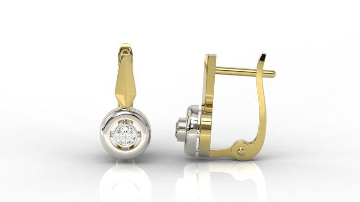 Kolczyki ze złota z brylantami/ Earrings made from gold with diamonds #earrings #diamonds #gold #gift
