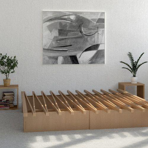 Het Tojo V-Bed is geïnspireerd op het Japanse minimalisme. Transformeer het meubel van een enkel tot een kingsize bed in een handomdraai, of…