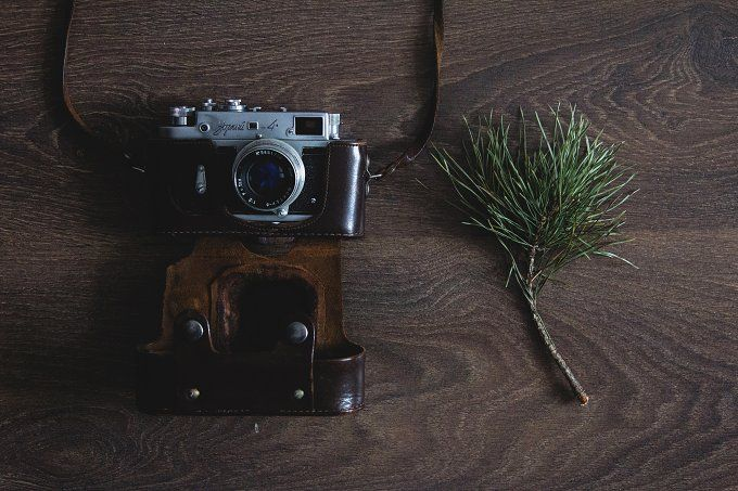 Vintage film camera by NataliaGubinaPhotography on @creativemarket