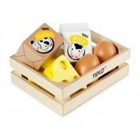 Drewniany zestaw - Jaja i nabiał
