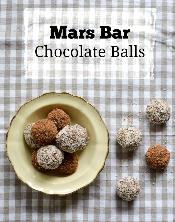 Mars Bar Chocolate Balls - Basil and Chook