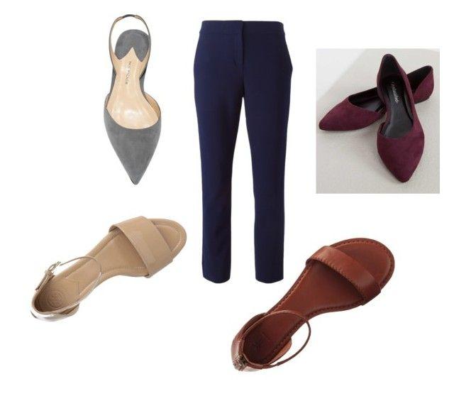 """Combina pantalón-zapatos 1"" by myrna-lopez-1 on Polyvore featuring moda, Diane Von Furstenberg, Frye, City Classified y Tory Burch"