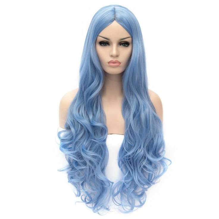 Sky Blue Wig 30in Party Cosplay Wig