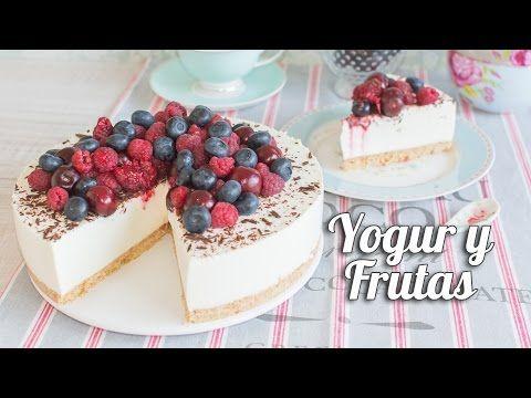 Tarta fría de yogur y frutas   Postre sin horno   Quiero Cupcakes! - YouTube