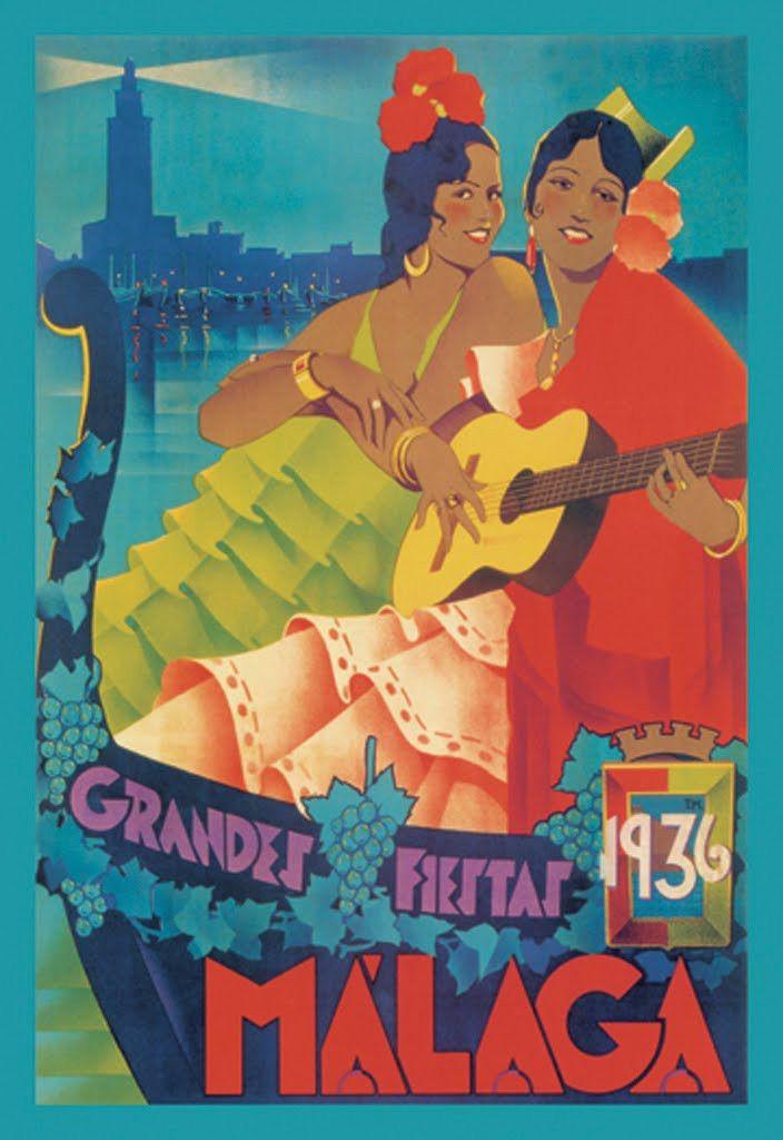 Málaga Grandes Fiestas 1936, by louis ramos rosa
