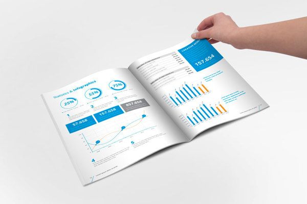 Annual Report Brochure Indesign Template on Behance https – Corporate Report Template