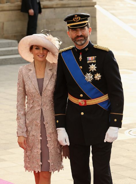 Luxembourg Wedding: The Spanish Royals...Posted on October 20, 2012 by HatQueen..Prince Felipe and Princess Letizia of Asturias represented the Spanish Royal family for this grand event in Luxembourg.