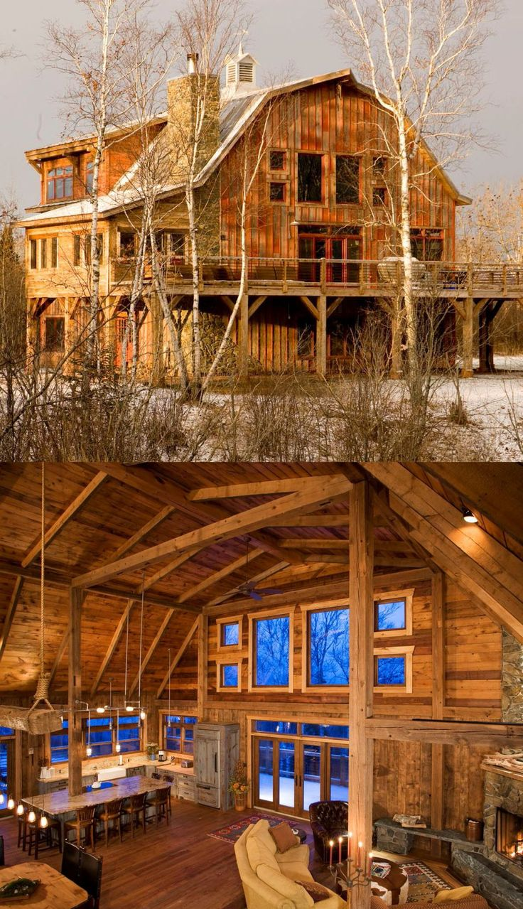 140 best wooden houses images on pinterest country homes for Wood barn homes