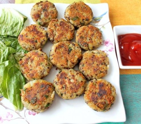 These healthy and delicious street food inspired quinoa potato cakes makes a great appetizer, snack or breakfast.  By Soni Sinha
